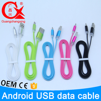 colorful high quality aluminum alloy connector tpe material data cable for samsung galaxy s4 i9500