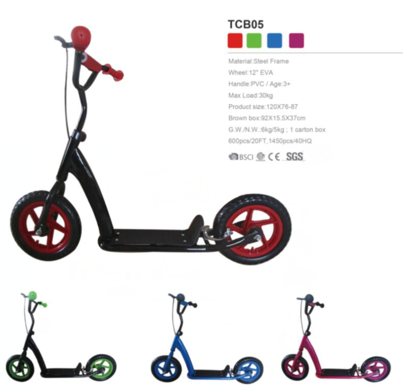 "2 wheel adult kick scooter 12"" best kick scooter TCB05 for children"