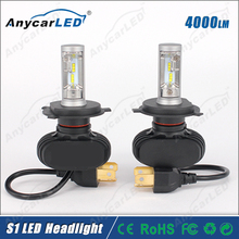 New system 4000lm S1 auto motorcycle car h4 led headlight bulbs