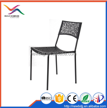 Low Price Plastic Chair with Hollow Back and Seat