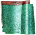 Fireproof clay roof tiles made in Japan ( CERAM21 Ivy Green color )