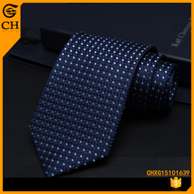 Chunhe Professional Custom] fashional Fancy Floral Men Business Checked Navy Blue Silk Necktie