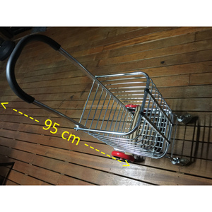 Shopping Cart Carts Trolley Aluminium Foldable Luggage Wheels Folding Basket