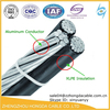 0.6/1KV Low voltage ABC triplex aerial cable coaxial cable for elevators lv
