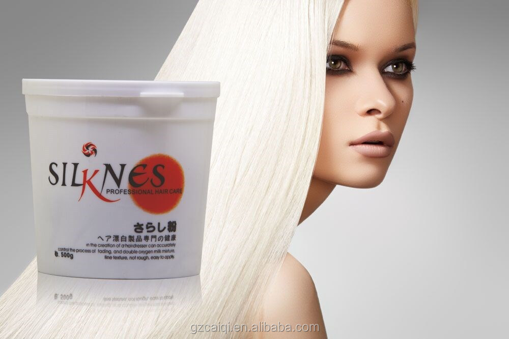 Professional dust free white hair bleaching powder to decolor