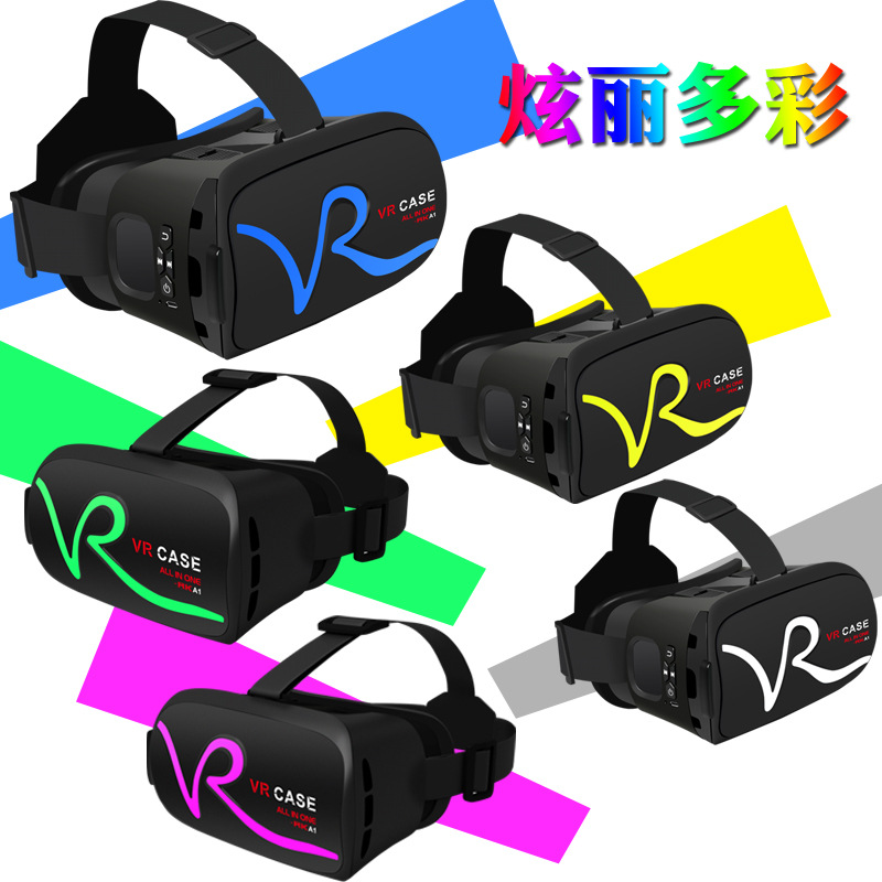 wholesale price high quality VR box 2.0 upgrade version all in one vr glasses VR CASE RK-A1 with touchpad remote control