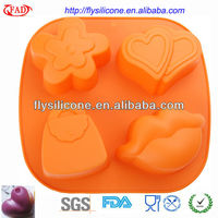Food Grade Custom Silicone 3d Soap Molds High Quality 4 Different Shape