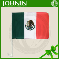 30*45cm 100% polyester high quality china manufacturer online shopping customized Mexico car window flags