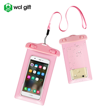 Touch Responsive Transparent Window Eco-Friendly blocking Durable PVC waterproof mobile phone bag
