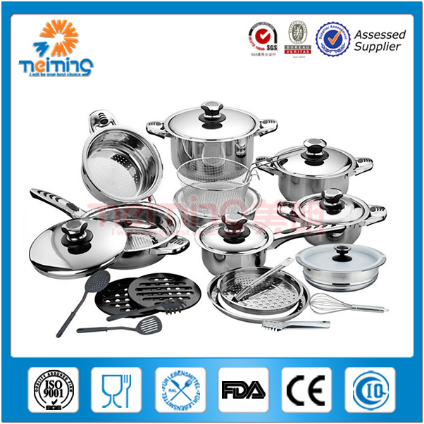 29pcs Non Magnetic Stainless Steel indian cooking pots, pots and pans