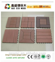 gswpc 310*310mm Garden decration DIY decking/wpc interlocking decking tiles