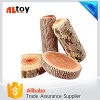 Wood Log Trunk Shape Pillow Sofa Throw cushion Toy