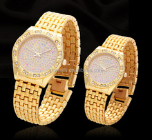 New hottest round alloy customization gift Watch promotional gift watch gold plating wirst watch