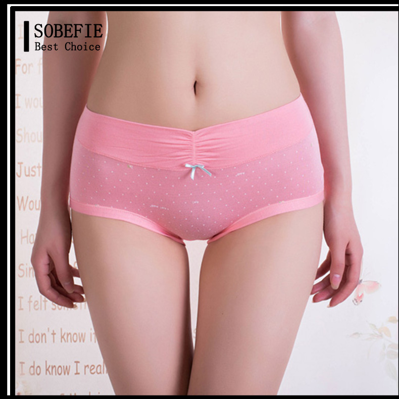 Lady Comfortable Undergarment Young Girl Wearing Stylish Panties Cute Printed Female Underwear Types Sexy