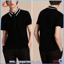 Alibaba Store Hot Sell Fashion Clothes Men's Dress Design Custom Logo Contrast Color Collar 98% Wool Polo T Shirt