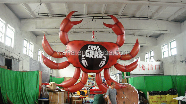 hanging giant inflatable Halloween crab