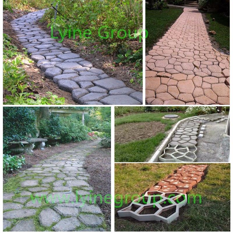 Por Diy Stamping Paver Moulds Concrete Cement Plaster Patio Stone Walkway Mold