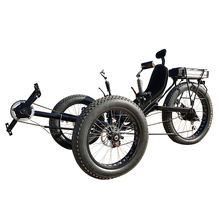Beach Cruiser 3 Wheel Foldable Electric Fat Tire Recumbent Trike