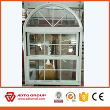 Aluminum Vertical Sliding Window Opening Lift Window With Grill Design