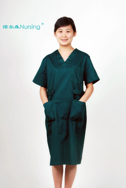 Women's /Men's Dark green Hospital Uniforms, op clothes ,operation clothes, Surgical Dress Apparel ,scrub Dress ,scrub clothing