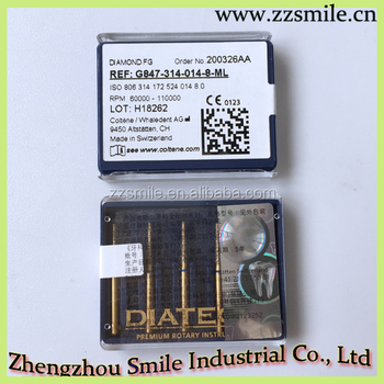 CE Approved Dental DIATECH Multilayer Diamond Instruments bur/Original Coltene Diamond Burs/FG