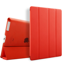 For iPad 2 3 4 Leather Case With Tri- Folding Stand