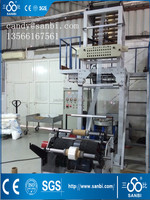 600mm LDPE/HDPE film blowing machine with corona treater