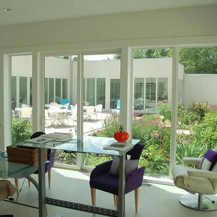 Economical Custom Design Double Glazed Pvc Frame Fixed Sliding Glass Doors