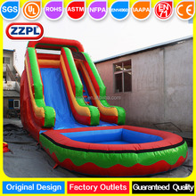 Hot sale jungle inflatable water slide with pool / Inflatable waterslide clearance