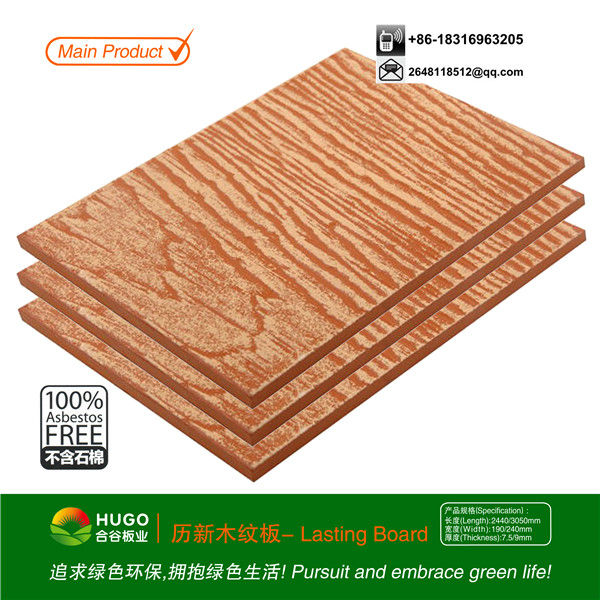 De fibra de cemento panel de revestimiento de madera del - Panel madera cemento ...