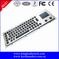 Rugged metal waterproof LED backlight computer keyboard with touchpad