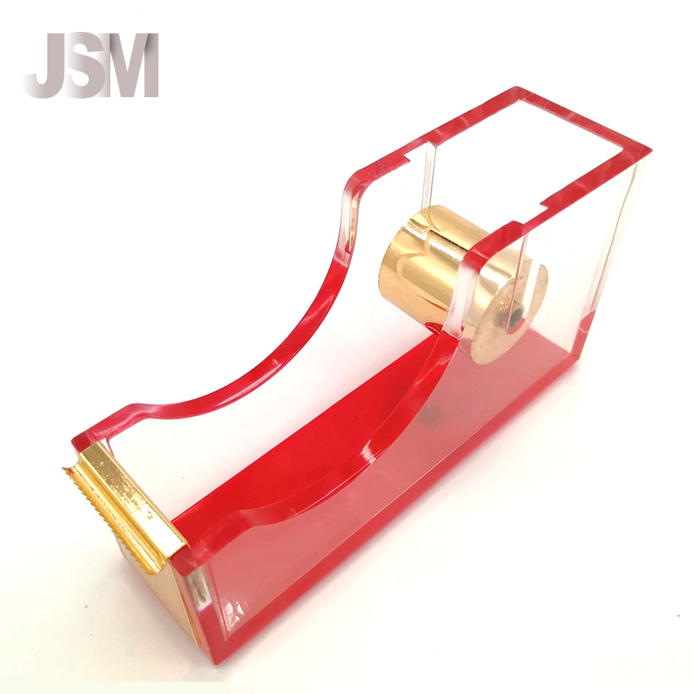 Custom Table Acrylic Multicolor Tape Dispenser with logo