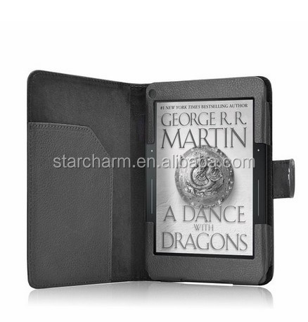 NO MOQ high quality 2014 6 inch leather case for Kindle Voyage