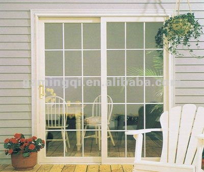 Sliding glass window exterior doors with grill design for Exterior door with sliding window