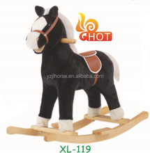 Plush Animal Toy Rocking Horse in Black Direct From Factory