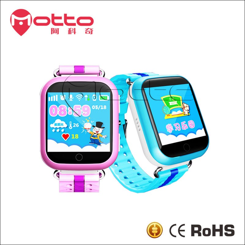 Q100 Wifi touch screen SOS Call GPS Kids smart watch Mobile Phone