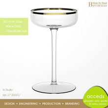 Eco-Friendly Novelty Pyrex Glass Champagne Coupes