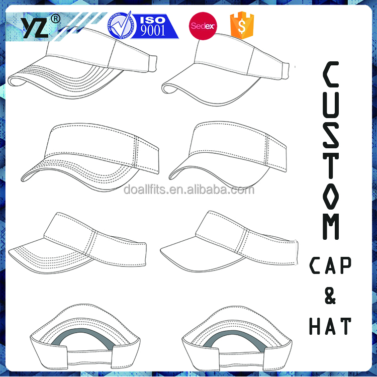 China caps hats factory custom design sun visors caps and hats golf visor hunting hat cheap price low moq hight quality