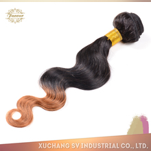 Highly feedback hair products brazilian virgin ombre hair weaves hair extension for white people