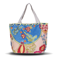 Women Canvas Shopping Bags Shopper Tote Zipper Eco Shoulder Versatile Sack Summer Holiday Beach DIY Painting Handbag