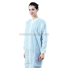 PE coated disposable Lab Coat
