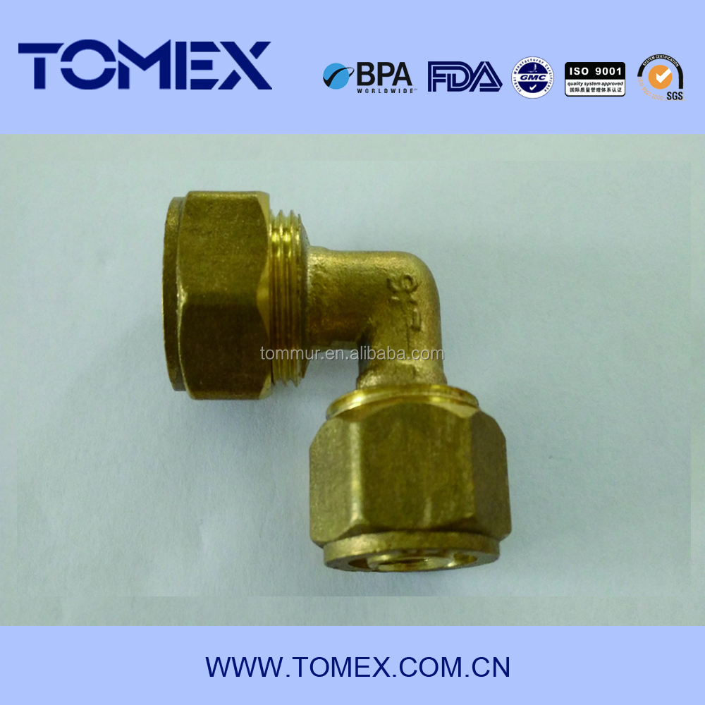 2015 factory making new products brass dot compression tube fittings uae