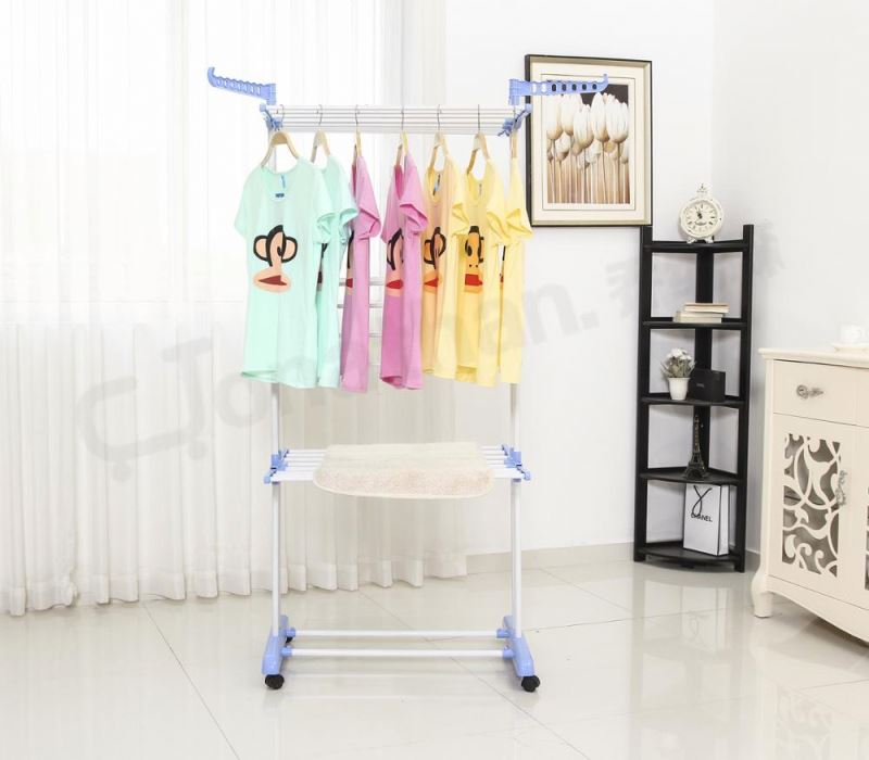 NR-006 colored carton packing laundry rack 3 tier drying rack