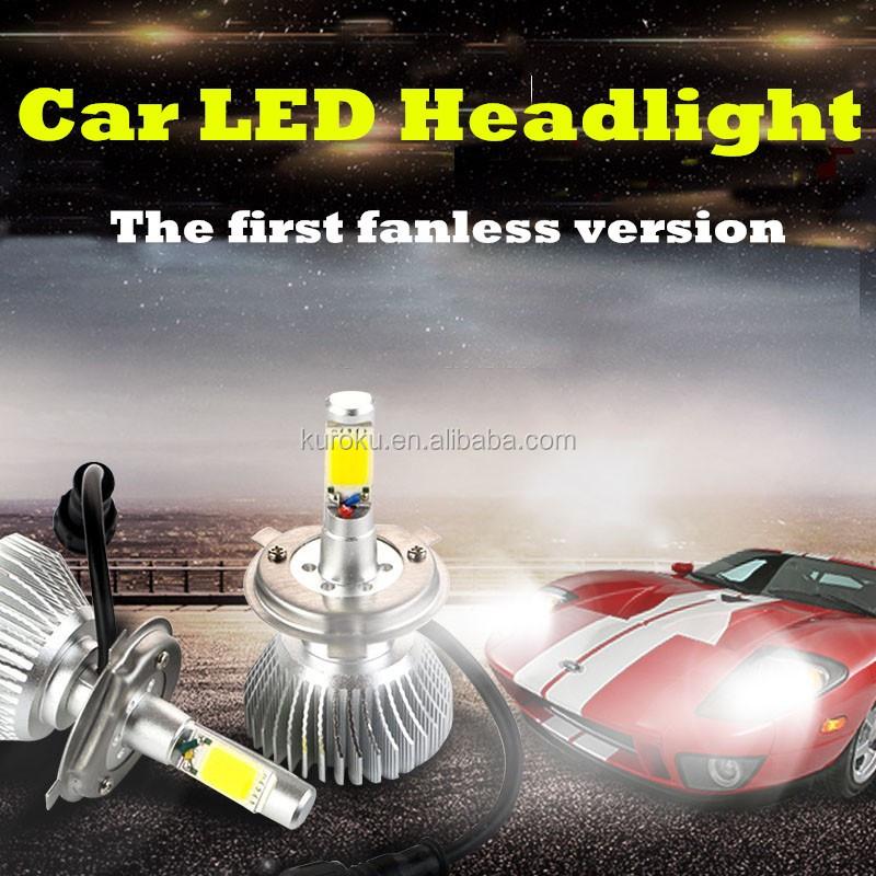 H1 25 와트 2200LM 헤드 티맥스 헤드 라이트 2 초 H2 자동차 LED 헤드 ...