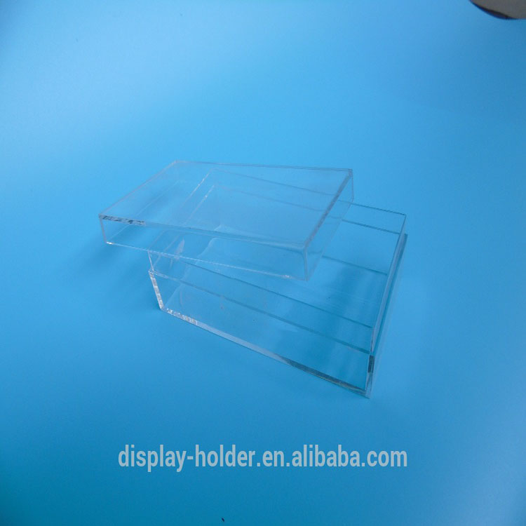clear plexiglass acrylic rectangle storage box with lid