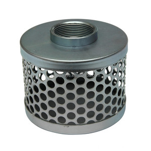 Carbon Steel Basket Suction Water Hose Strainer / Dust Cover / Colanders