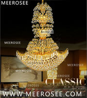 Glod Crystal Pendant Lamp Luxurious Hanging Chandelier Light Fixture Hotel/Home Lamp MD3110