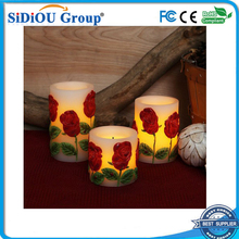 artificial led candle clear rose
