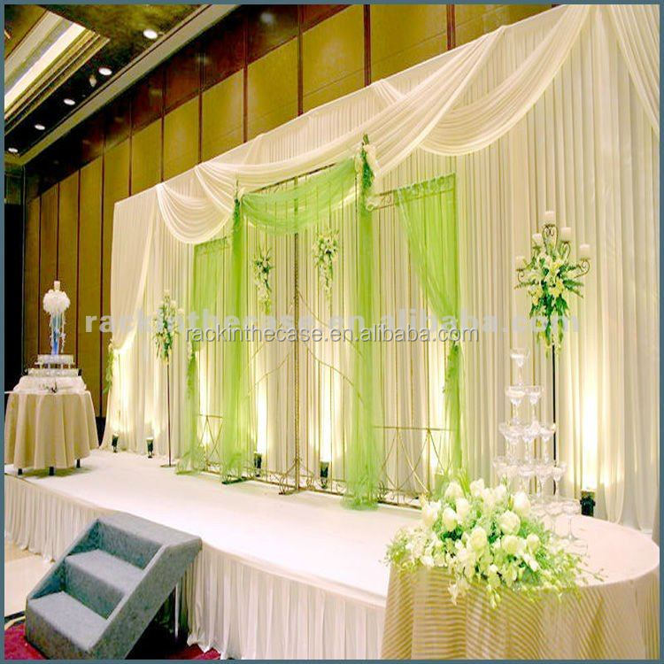 The backdrop pipe and drape for wedding decoration buy for Background curtain decoration