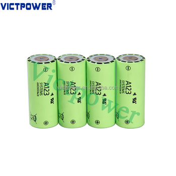 Recharge 26650 LiFePO4 battery 26650 3.3v 2500mAh for A123